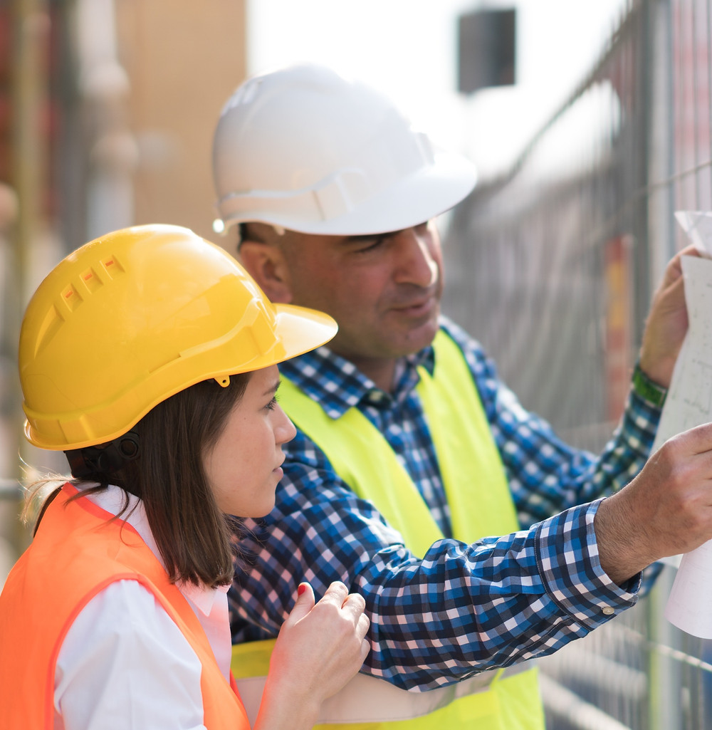 teenage girl on construction site placement T Level with employer