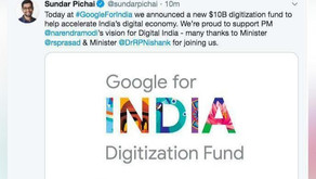 Google to invest ₹75,000 cr in India to digitize the country: CEO Sundar Pichai