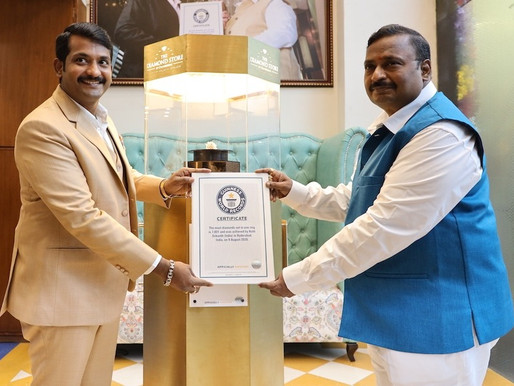 GUINNESS WORLD RECORD RECOGNIZES HYDERABAD JEWELER