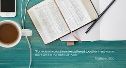 Meeting Together On-Line Around God's Word (Matthew 18:20)