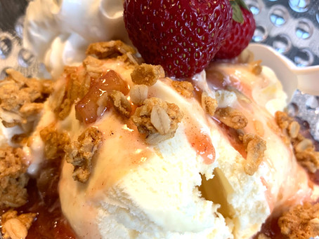 Father's Day Strawberry Rhubarb Sundae