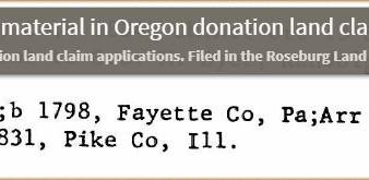 Joseph Gale's land claim in Oregon