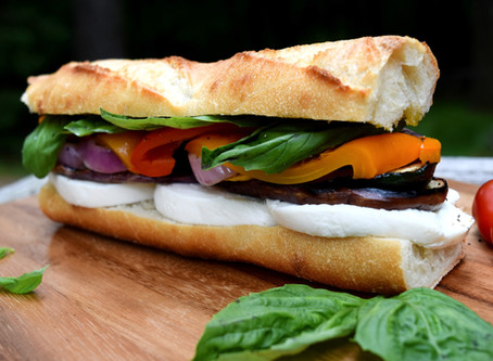 Fresh Mozzarella and Grilled Veggie Sandwich