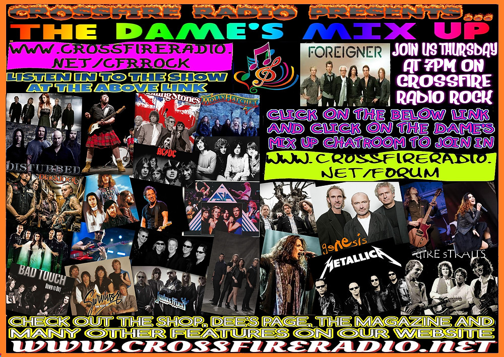 promo pic for dames on crossfire radio