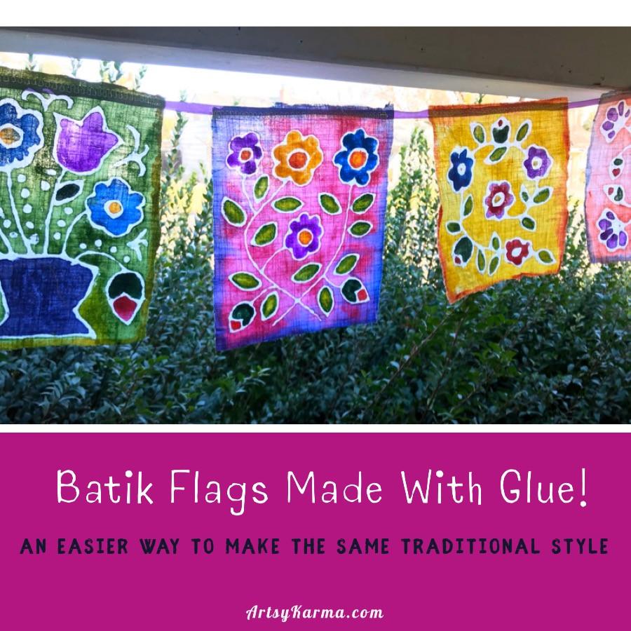 an easy way to make batik