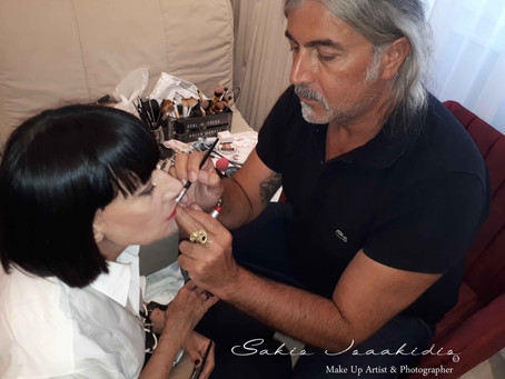 Make Up Art for Chantal Thomass Just before a Fashion event!