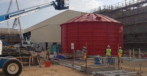 Depósitos de agua para sistema contra incendios en Omán