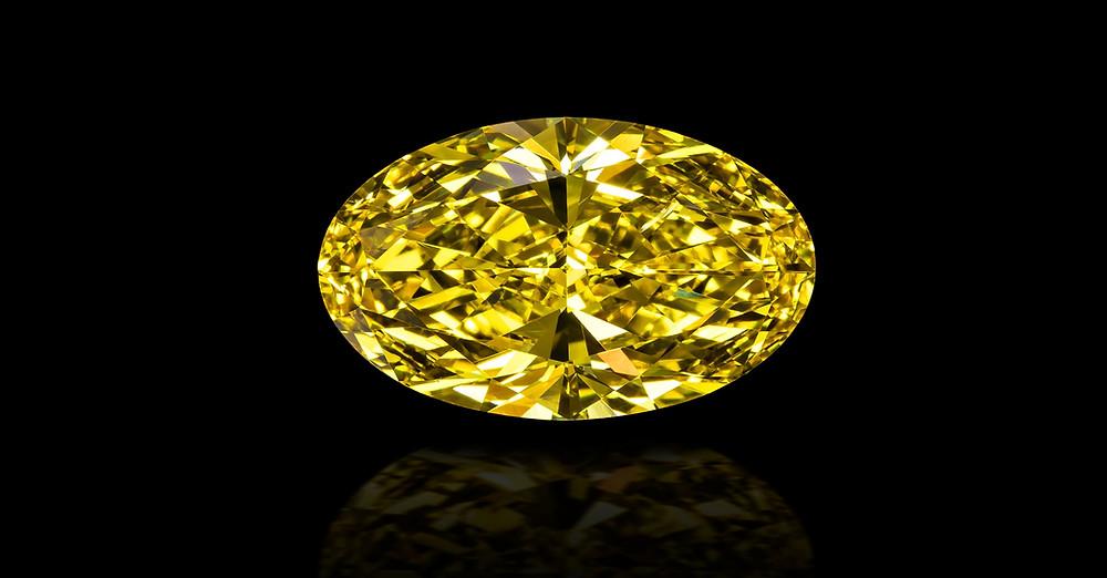 polished oval zimmi diamond