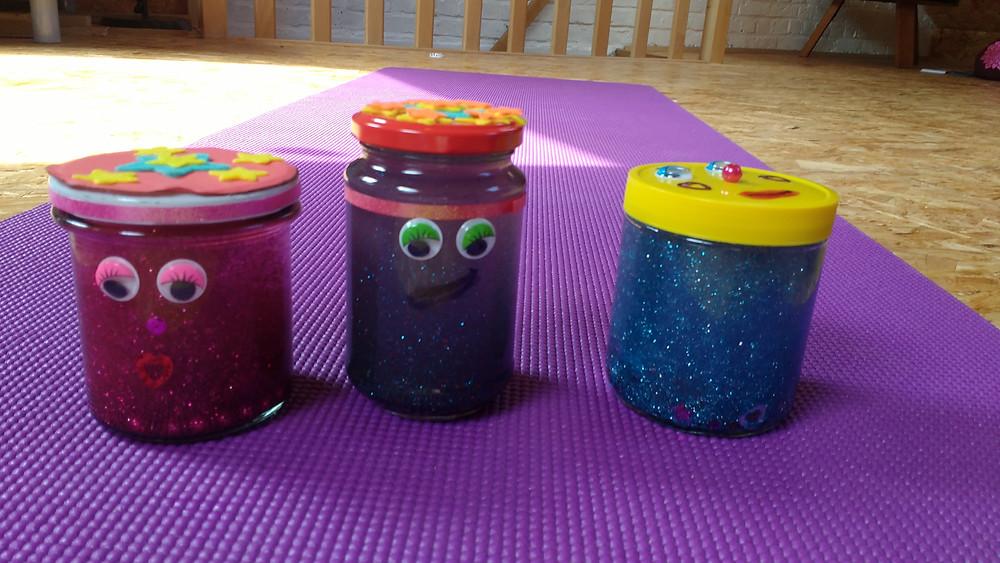 mindfulness glitterbokalen