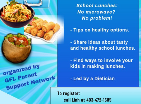 Healthy School Lunches by Parent Support Network oct 2