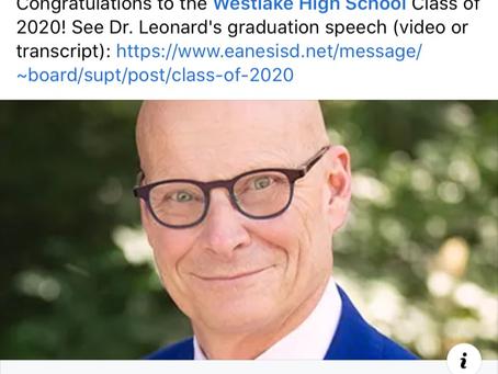 Dr. Leonard Sends Off The Class of 2020