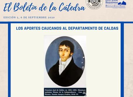 BOLETÍN DE LA CÁTEDRA, EDICIÓN 5