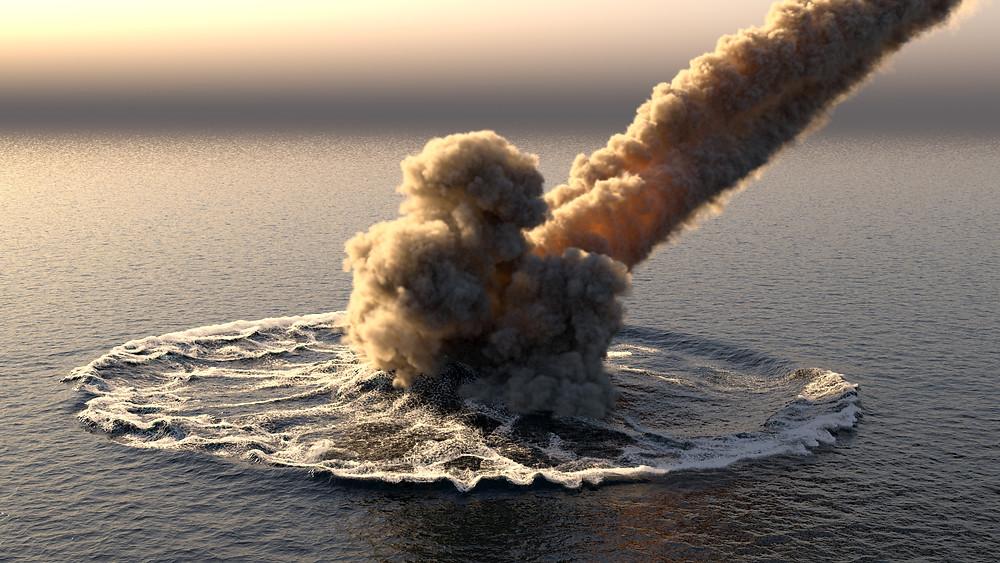 meteorite , asteroide, boule de feu ,