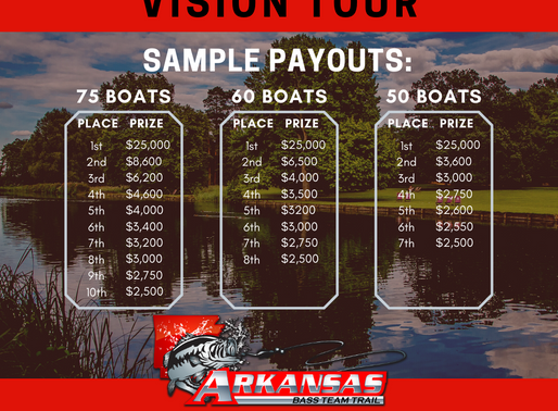 2020 Vision Tour sample payouts