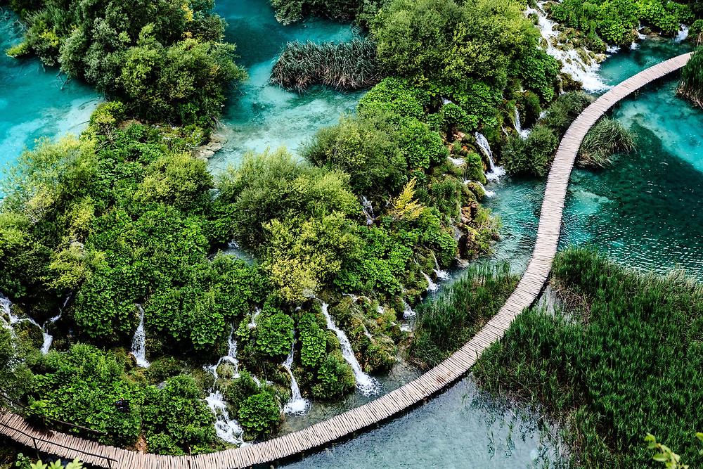 Parque Nacional dos Lagos Plitvice - pontos turísticos da Croácia