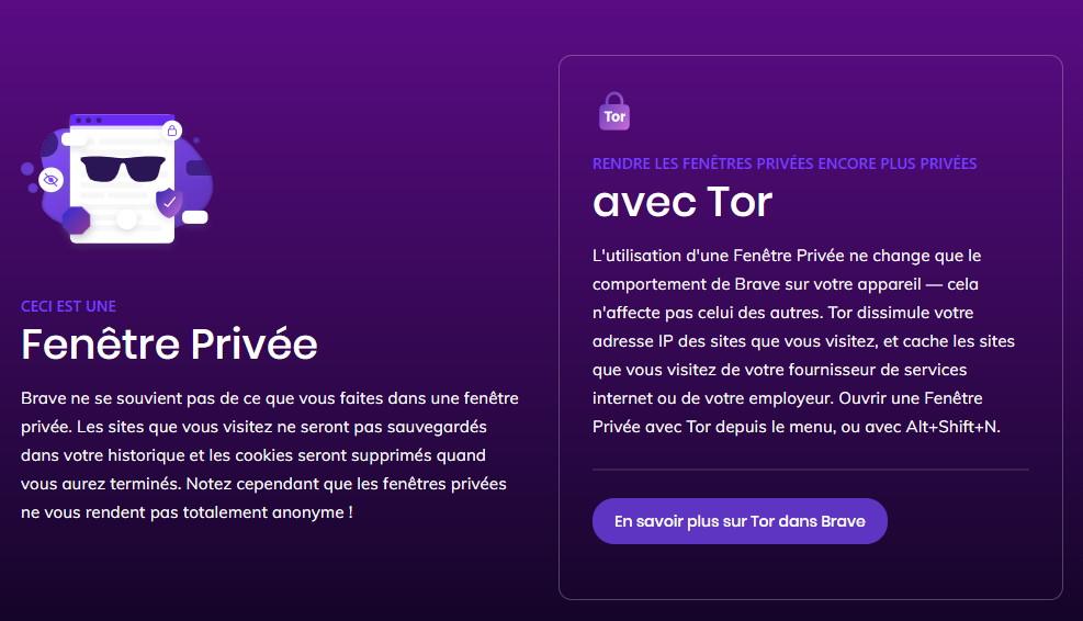 Brave et Tor