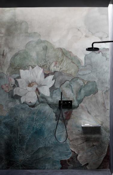 Papier peint, wet system, wall&deco, salle de bains