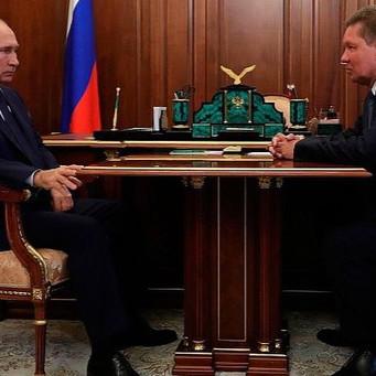 В.В. Путин и А.Б. Миллер провели очную встречу