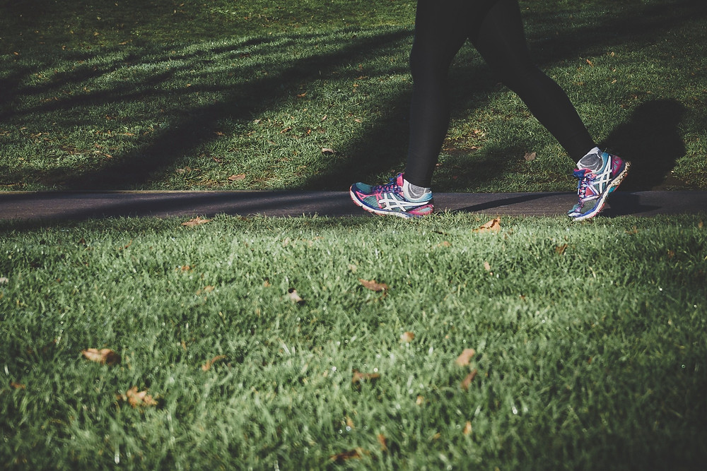Go on a walk at a brisk pace for an hour