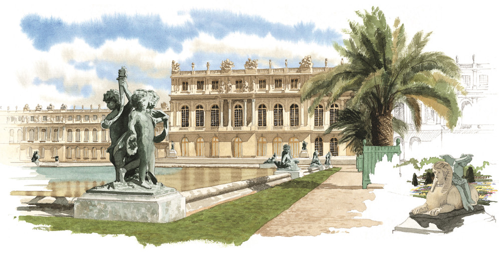 Aquarelles Versailles MICHEL DUVOISIN