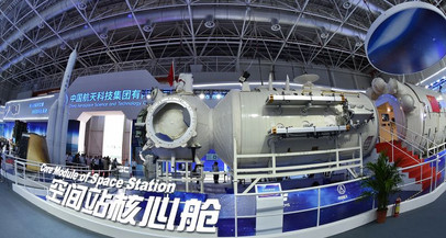 Módulo principal da estação espacial da China e nave tripulada chegam a local de lançamento
