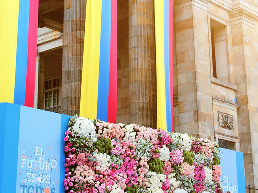 Garden Roses and Flowers of Colombia at Presidential Inauguration