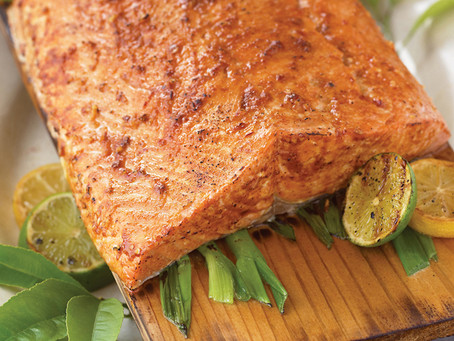 Planked Alaska Salmon with Asian Glaze