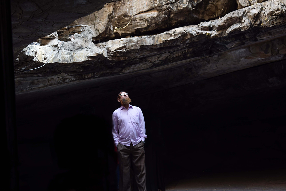 Rays of Hope | At the entrance of Belum caves India