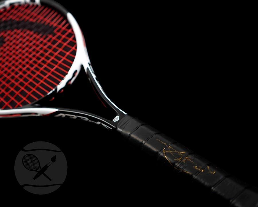 Novak Djokovic signed Head racket at The Berlin Tennis Gallery