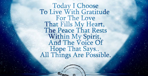How I Choose To Live Today