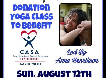 Fountain of Health Yoga Studio to Host Donation Yoga Class to Benefit Casa of Pueblo