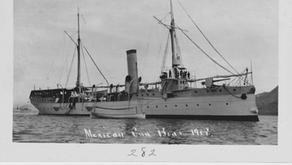 """Hallan INAH y Semar el naufragio Cañonero """"Tampico"""", de la Revolución Mexicana."""