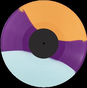 3 Colour Striped Vinyl Record
