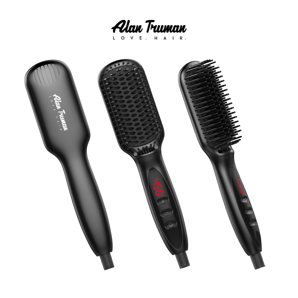Hot Brush | Flat Iron Straightener |  Alan Truman