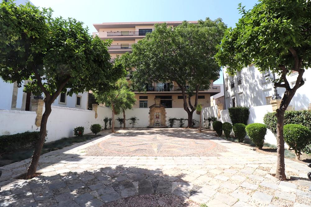 Plaza de Cristóbal Colón in El Puerto de Santa Maria, Cadiz, Spain