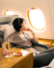 Luxurious Business Class Flight Accommod