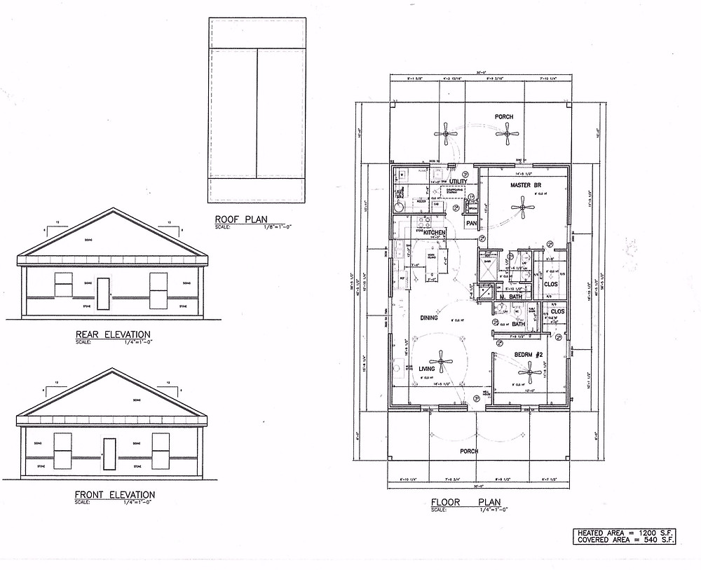 1200 sq ft Barndominium floor plan