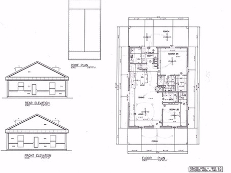 1200 sq ft Barndominium plan