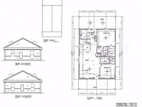 1200 sq ft Barndominium plan