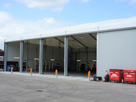 Vehicle Workshop, temporary building for BT Fleet