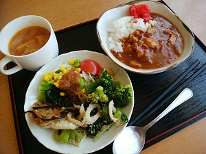 野菜たっぷりの手作りお惣菜♪トマトとお肉がゴロゴロのカレーも絶品♡