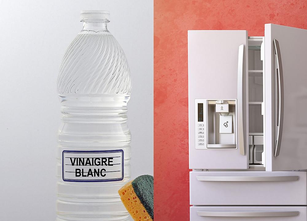 Bouteille de vinaigre blanc, liquide de nettoyage