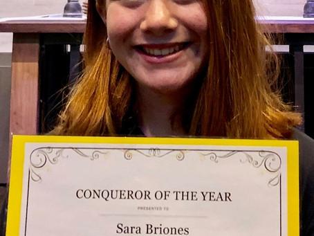 Sara Briones...Conqueror of the Year!