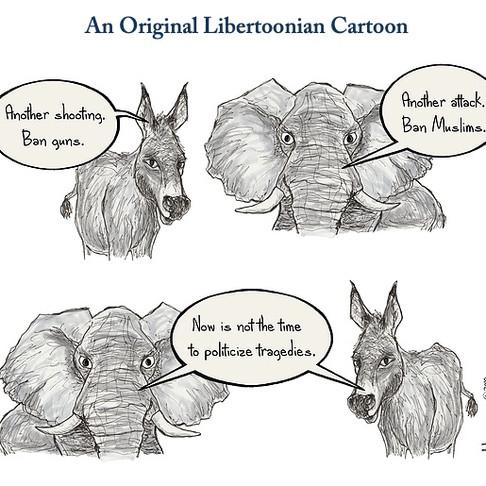 Libertoonian Gun Control Cartoon