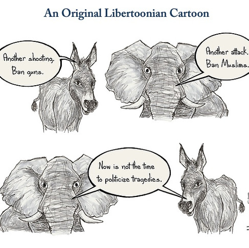 Libertoonian Gun Control Cartoon