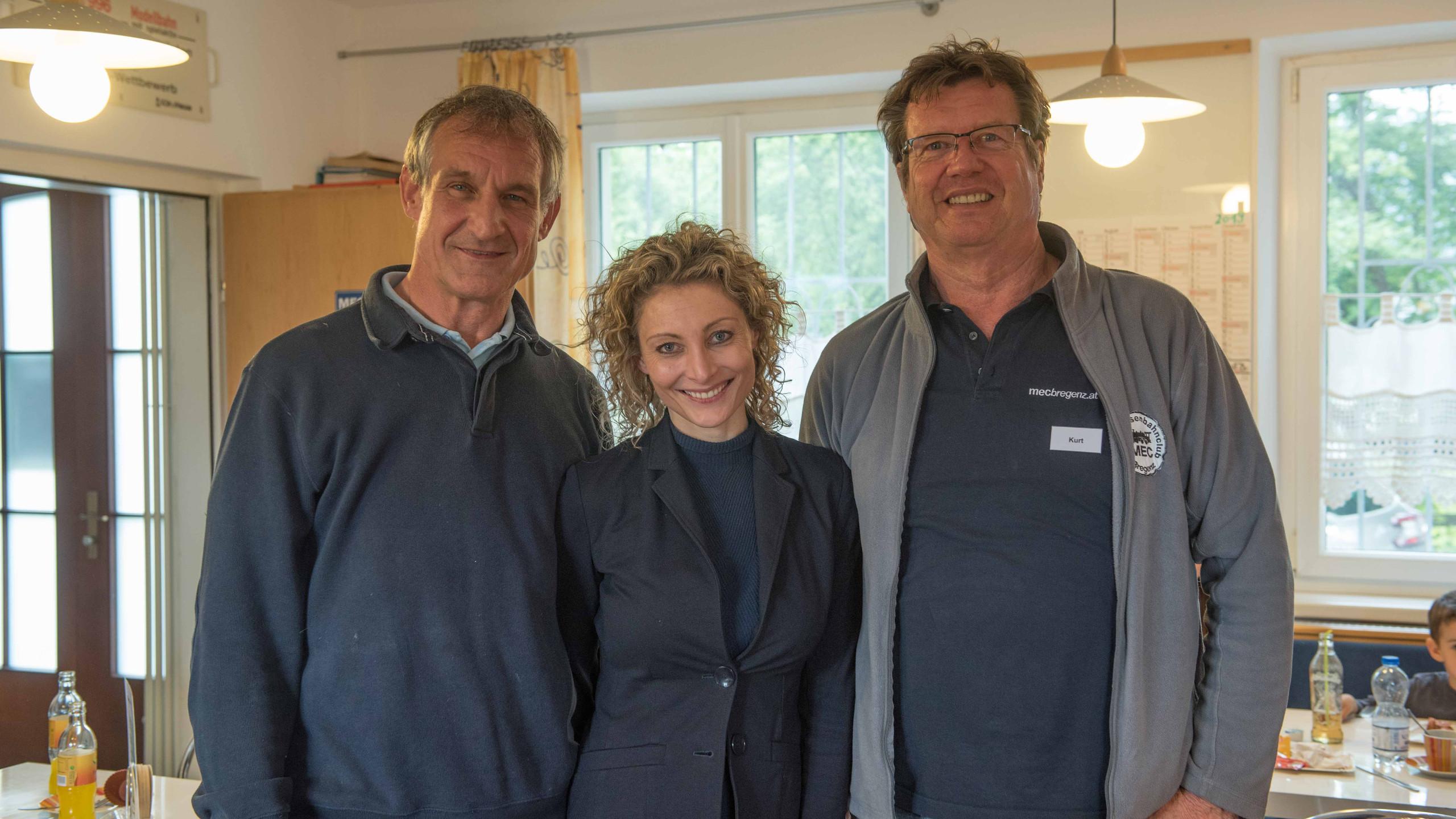 Bgm. Markus Linhart mit Frau Manuela und unserem Vorsitzenden Kurt