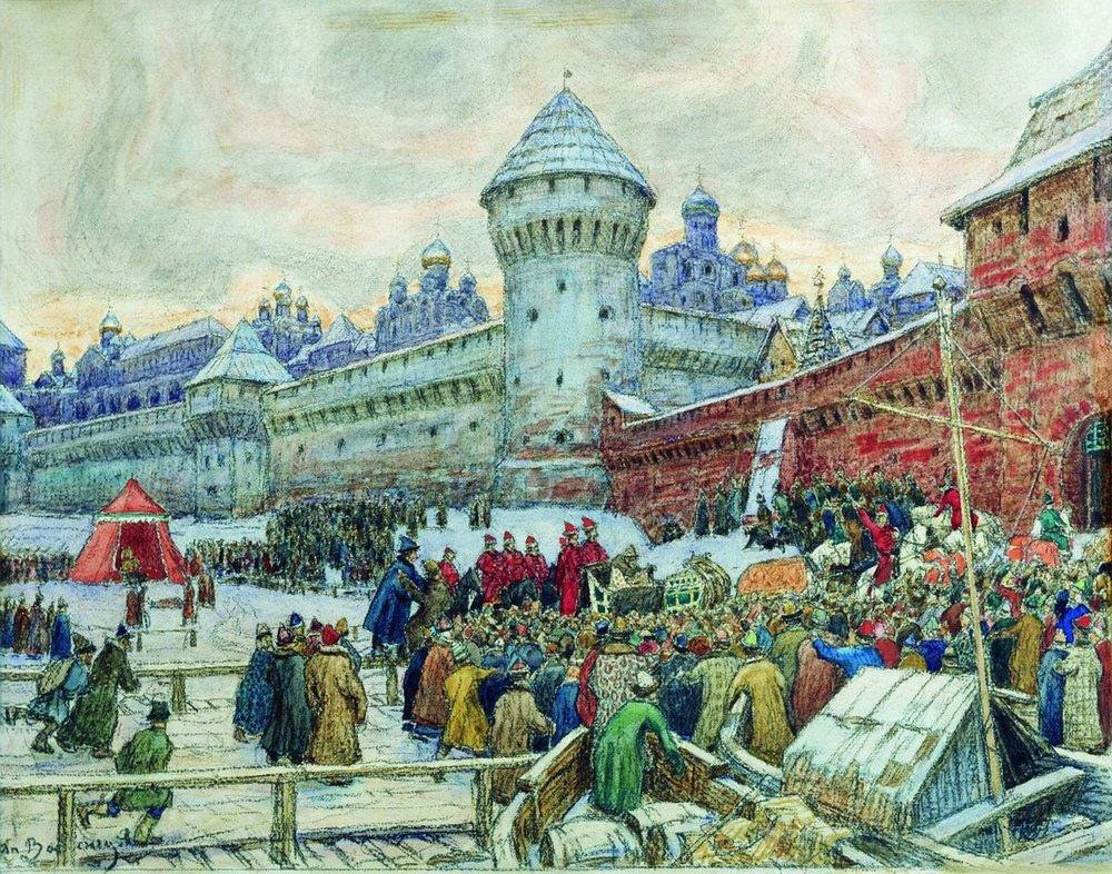 Старая Москва. Отъезд с кулачного боя (1900-е)