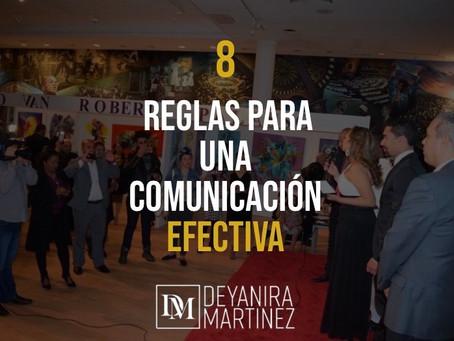 8 REGLAS PARA UNA COMUNICACION EFECTIVA