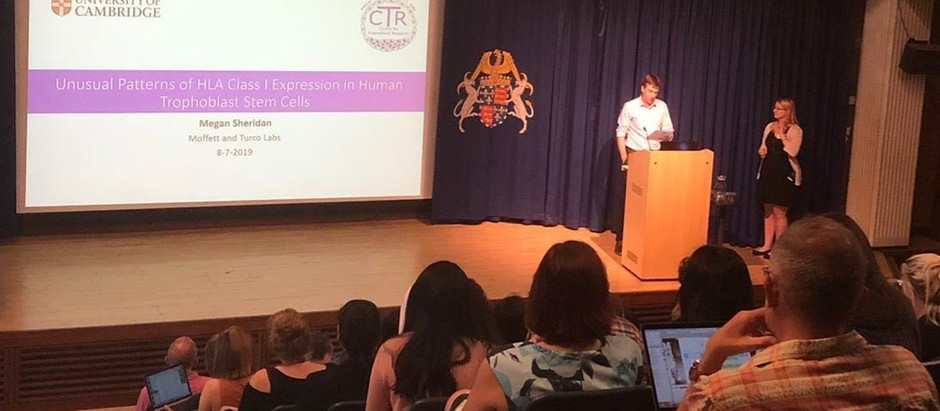Megan presents at the CTR conference in Cambridge