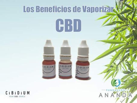 Los beneficios de vaporizar CBD
